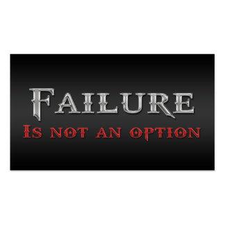 Life Coach Failure Not An Option Business Cards