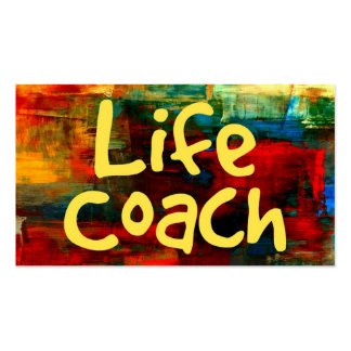 Life Coach in Paint Business Card