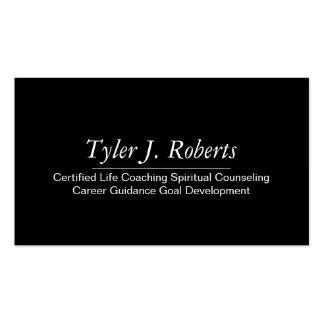 Life Coach Spiritual Counseling Career Guidance Business Card Template