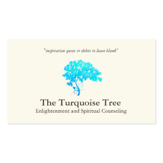Life Coach Spiritual Counselor Turquoise Tree 2 Business Card