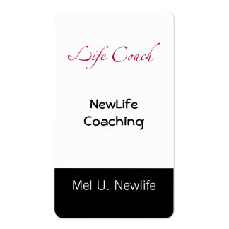 Life Coach Text Swash Business Card Template