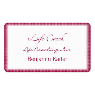 Life Coach Text Swash Pack Of Standard Business Cards