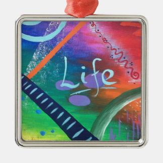 LIFE - colourful chaotic beauty! Christmas Ornament