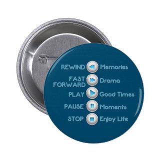 Life Control Buttons Blue Button