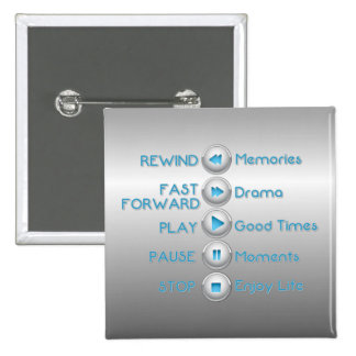 Life Control Buttons Silver Button