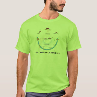 Life Cycle Of A Mosquito (Egg Larva Pupa Imago) T-Shirt