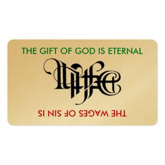 Life Death Ambigram Card Business Card