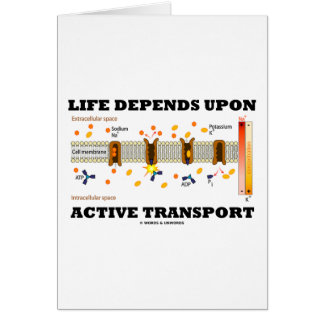 Life Depends Upon Active Transport Na-K Pump Greeting Cards