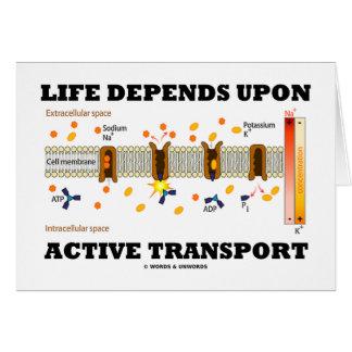 Life Depends Upon Active Transport (Na-K Pump) Cards