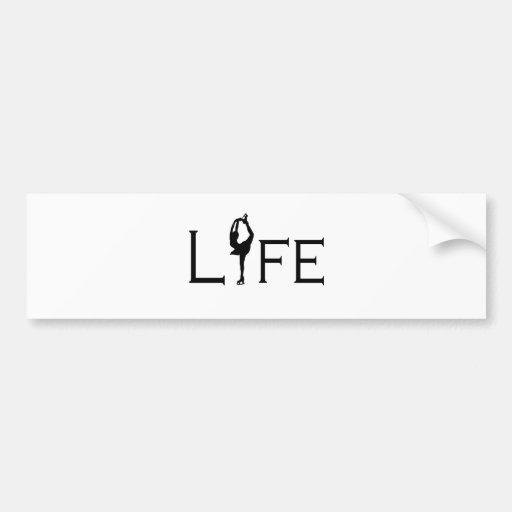 LIFE (Figure Skater) Bumper Sticker