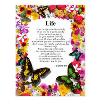 Life - Flower Garden Postcard