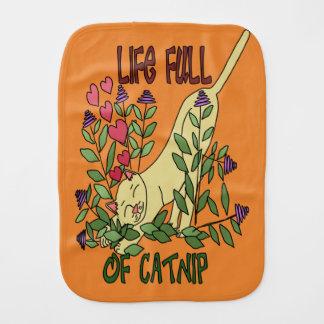 Life Full of Catnip Burp Cloth