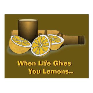 Life Gives You Lemons Postcard