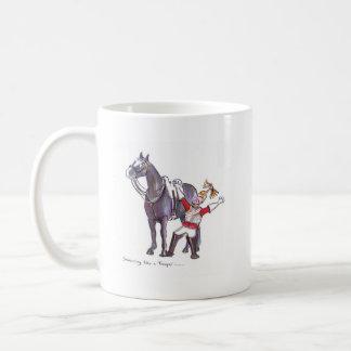 Life Guards funny horse cartoon Basic White Mug