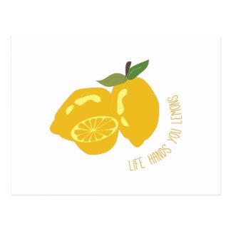 Life Hands Lemons Post Card