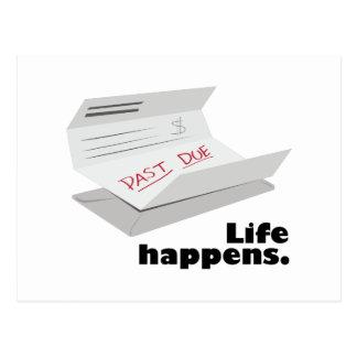 Life Happens Postcard