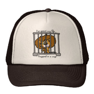 Life in Cage Ball Cap Trucker Hat