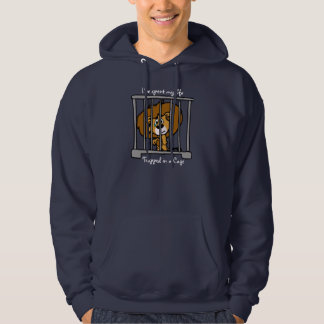 Life in Cage Dark Hooded Top