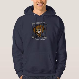 Life in Cage Dark Hooded Top Sweatshirts