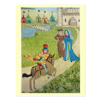 Life in Merry England, Joust at the castle Postcard