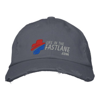 Life in the Fast Lane Hat (Dark) Embroidered Baseball Caps