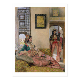 Life in the harem, Cairo Postcard