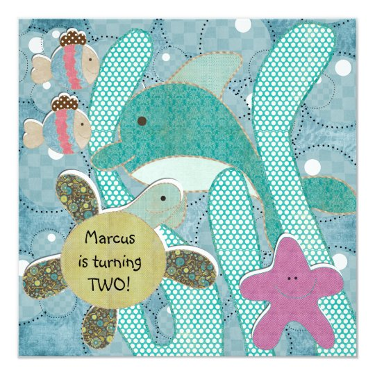 Life in the Sea Ocean TurtlesBirthday Invitation