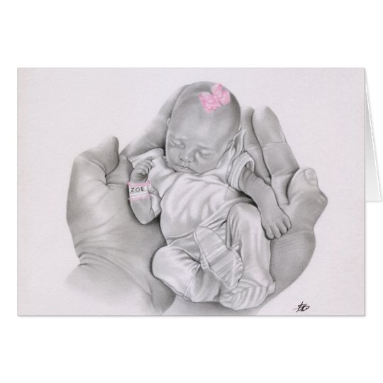 Life in your hands Baby Card