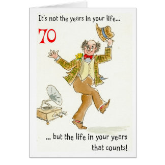 'Life in Your Years' 70th Birthday Card