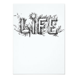LIFE 14 CM X 19 CM INVITATION CARD