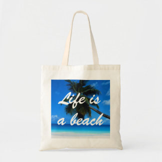 Life Is A Beach Budget Tote