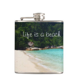 Life is a Beach Hip Flask