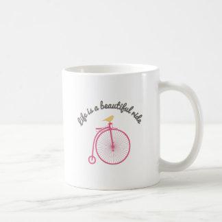 Life Is A Beautiful Ride Basic White Mug