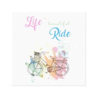 Life is a beautiful ride Canvas Print