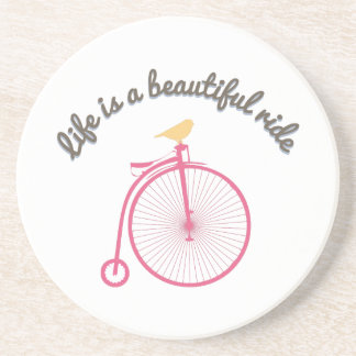 Life Is A Beautiful Ride Sandstone Coaster