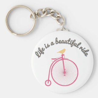 Life Is A Beautiful Ride Key Chains