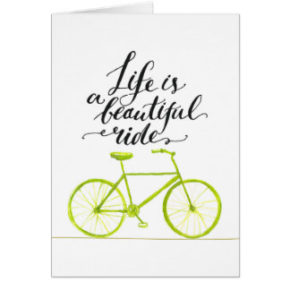 Life Is A Beautiful Ride Lime Green Card