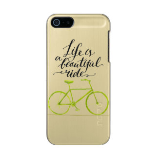 Life Is A Beautiful Ride Lime Green Incipio Feather® Shine iPhone 5 Case