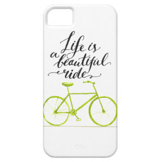Life Is A Beautiful Ride Lime Green iPhone 5 Cover