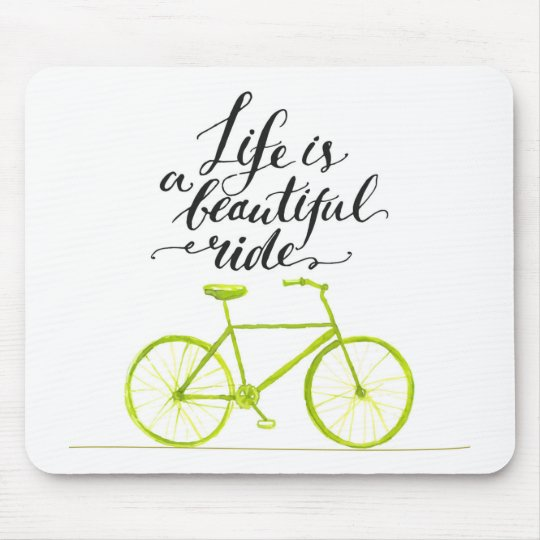 Life Is A Beautiful Ride Lime Green Mouse