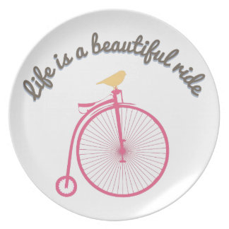 Life Is A Beautiful Ride Plates