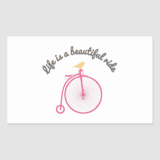 Life Is A Beautiful Ride Rectangular Sticker