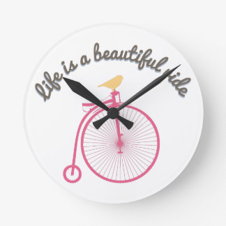 Life Is A Beautiful Ride Wall Clocks