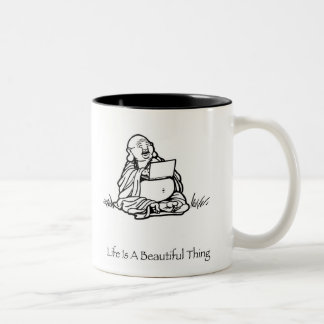Life Is A Beautiful Thing Buddha Coffee Mug