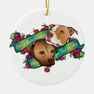 Life is a Bowl of Cherries... Christmas Ornament