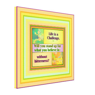 Life is a Challenge Inspiration, small Canvas Print