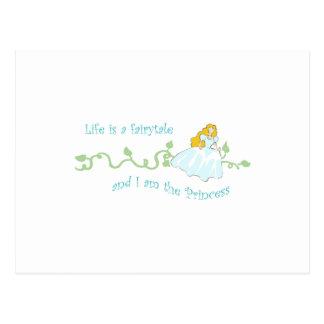 Life Is A Fairytale Postcard