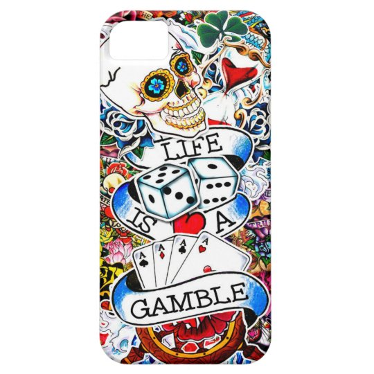 LIFE IS A GAMBLE TATTOO ART iPhone 5 COVER