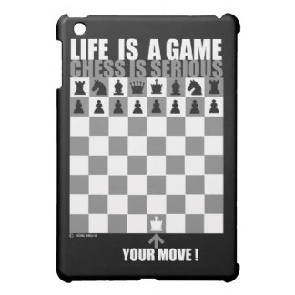 Life is a game, chess is serious iPad mini covers