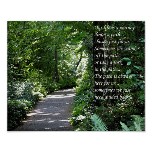 Life Is A Journey - Inspirational Poster